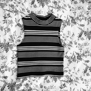 Blue and black striped tank top
